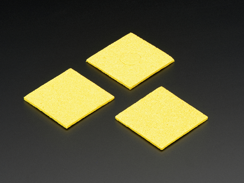 Square 60mm x 60mm Soldering Sponge – 3 Pack
