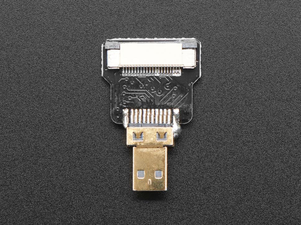 Undershot of the Straight Micro HDMI Plug Adapter