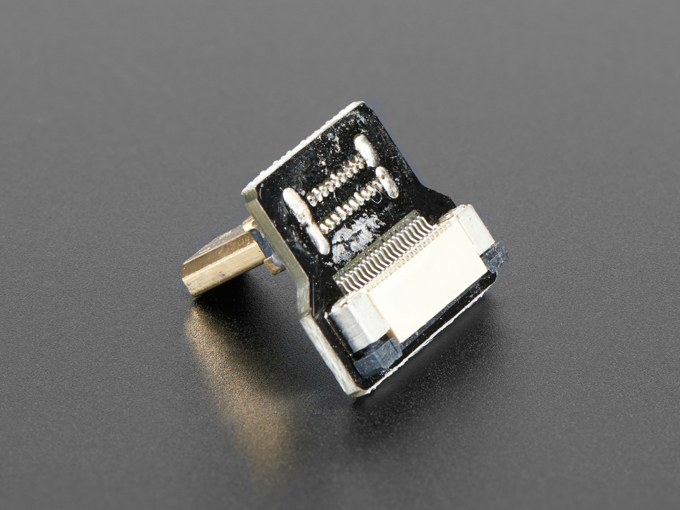 Alternate shot of Right Angle (R Bend) Micro HDMI Plug