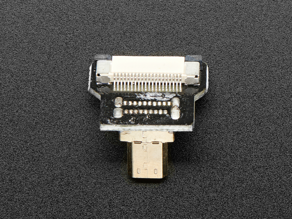 Other side of Right Angle (R Bend) Micro HDMI Plug