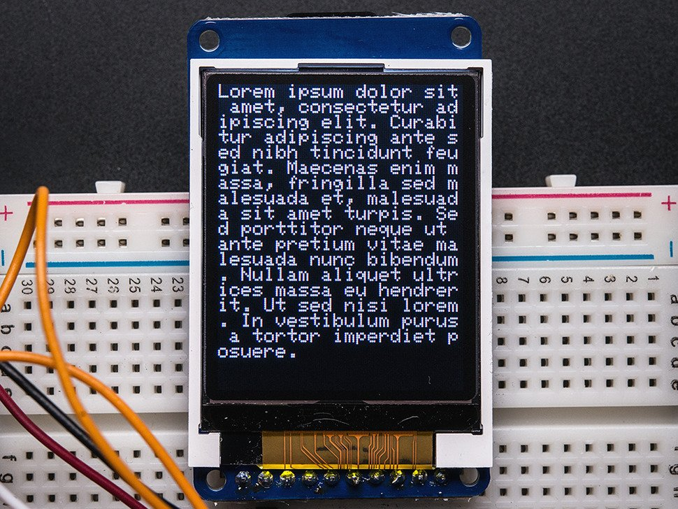 358 02 1 8 color tft lcd display with microsd card breakout [st7735r] id  at panicattacktreatment.co