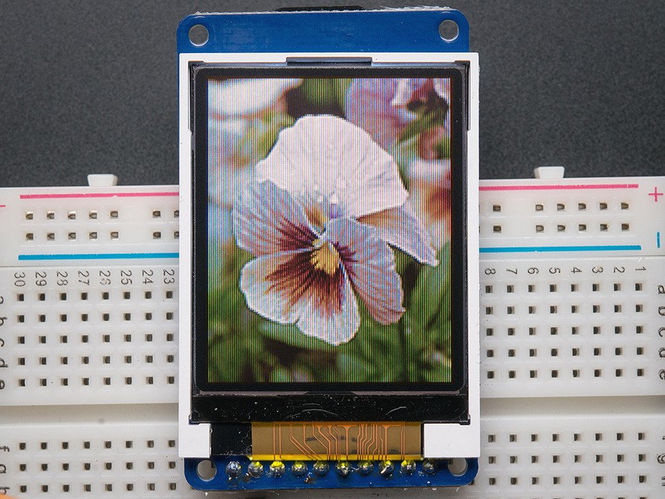 "1.8"" Color TFT LCD display with MicroSD Card Breakout - ST7735R"