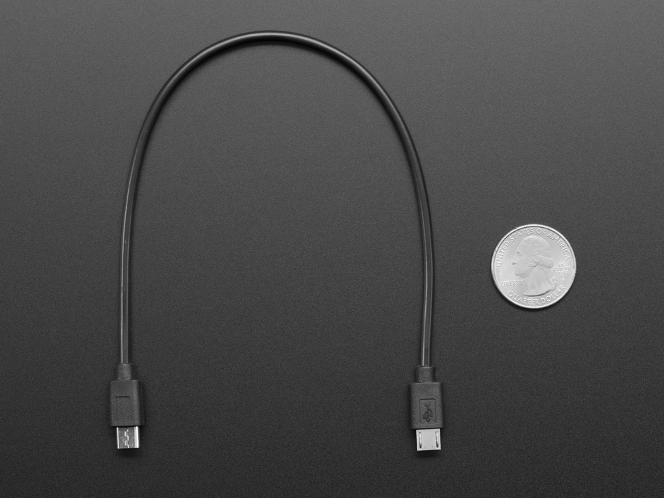 "Micro USB to Micro USB OTG Cable - 10-12"" / 25-30cm long"