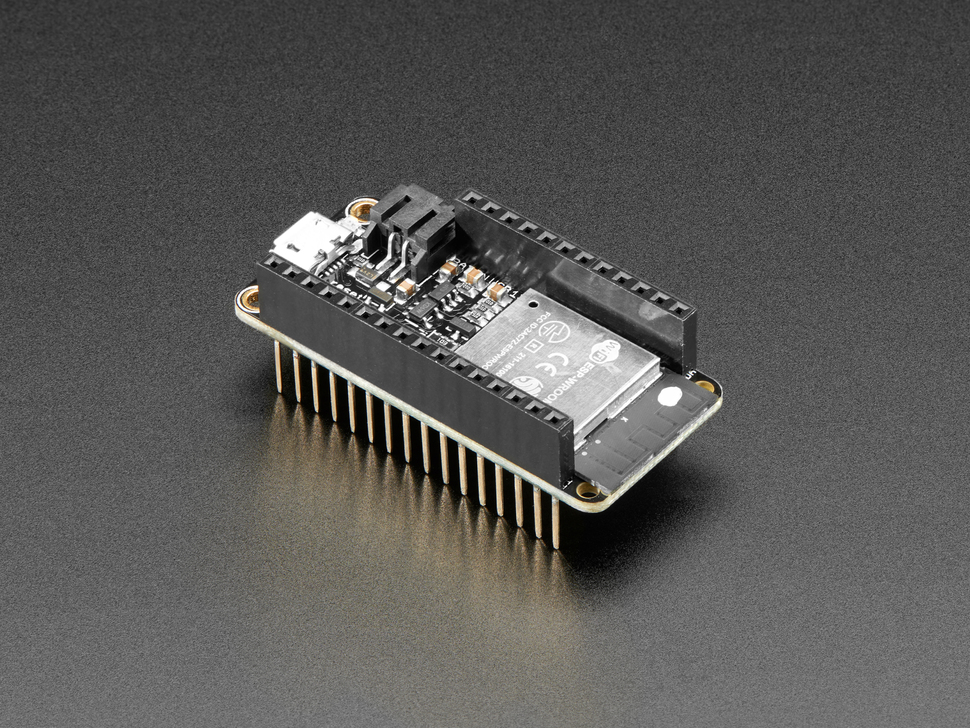 Assembled Adafruit HUZZAH32 – ESP32 Feather Board - with Stacking Headers