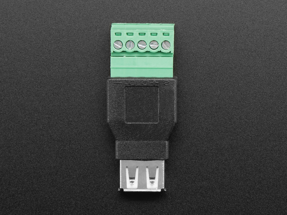USB-A Female Socket to 5-pin Terminal Block