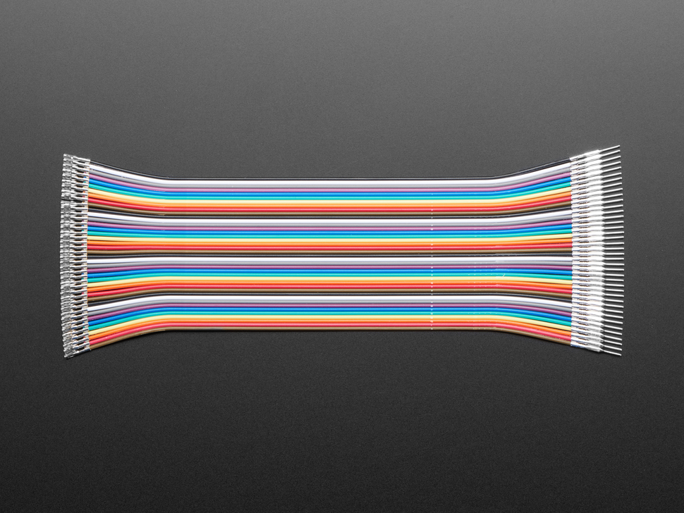 Premium Male/Female Raw Jumper Wires - 40 x 6""
