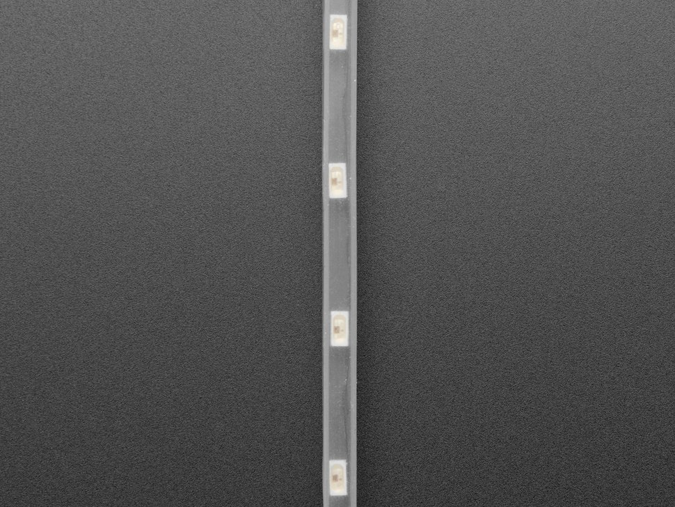 Detail of profile of LED strip