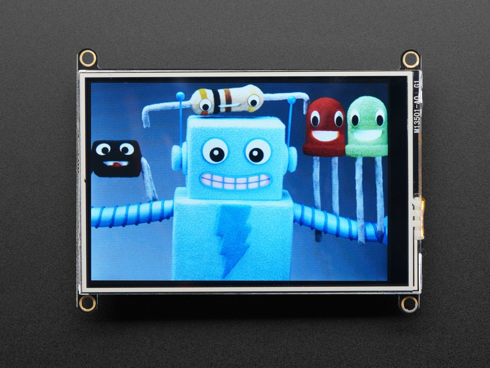 "Adafruit TFT FeatherWing - 3.5"" 480x320 Touchscreen for Feathers"