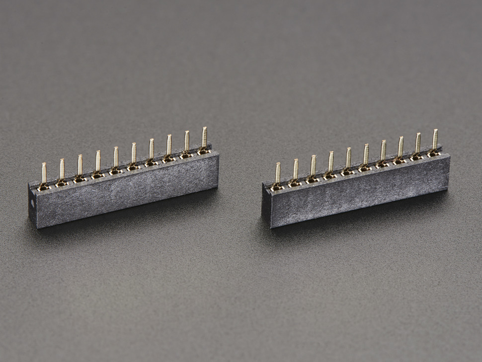 2mm 10 pin Socket Headers (for XBee) - Pack of 2