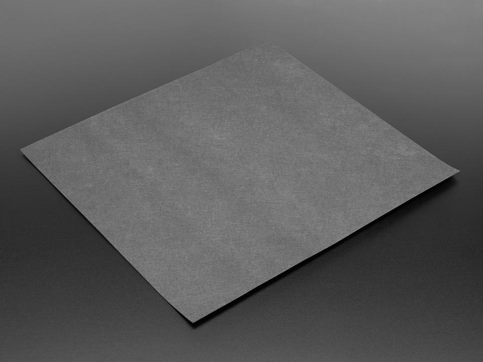 Square of black felt fabric