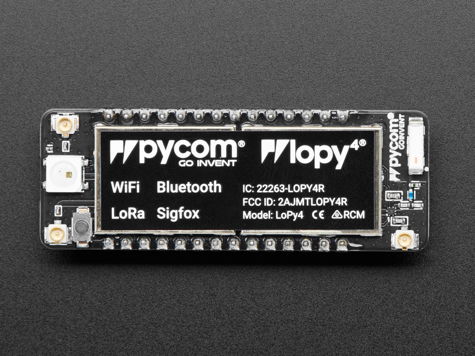 Pycom LoPy4 - WiFi, BLE, LoRa, and Sigfox