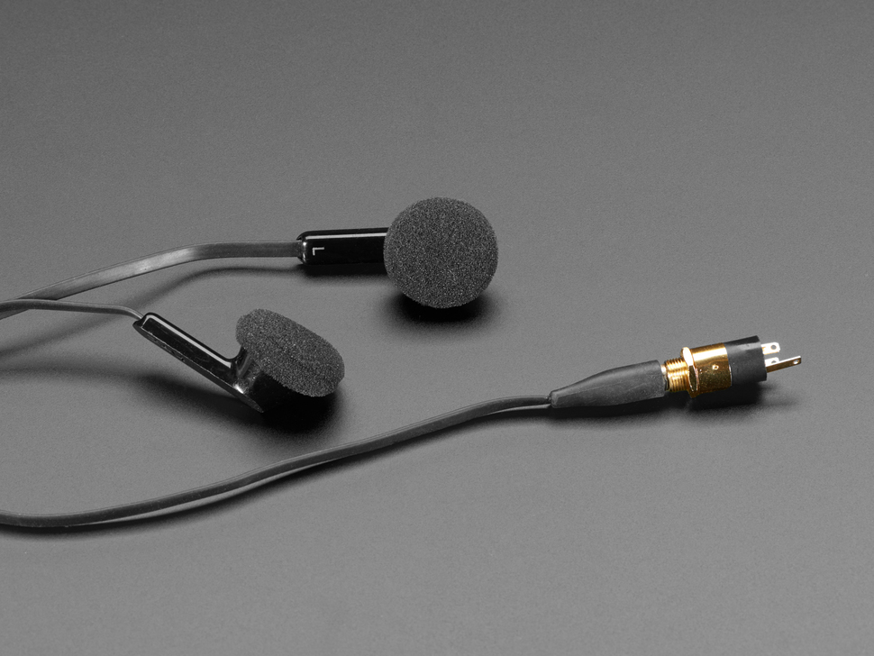 Earbuds plugged into jack