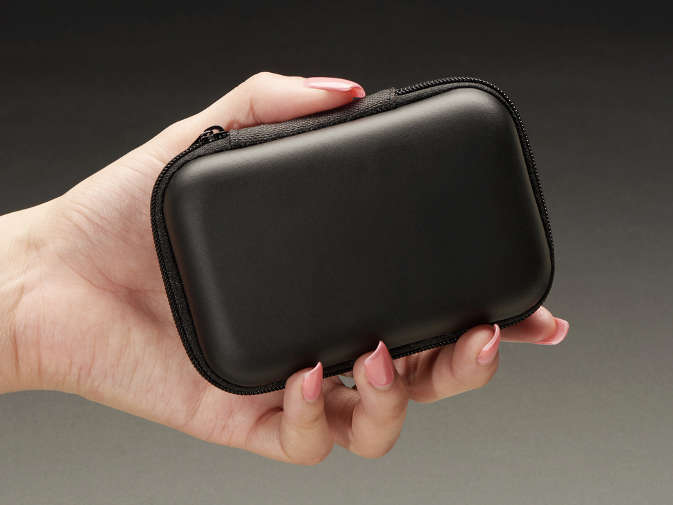 Maker-Friendly Zipper Case - Black