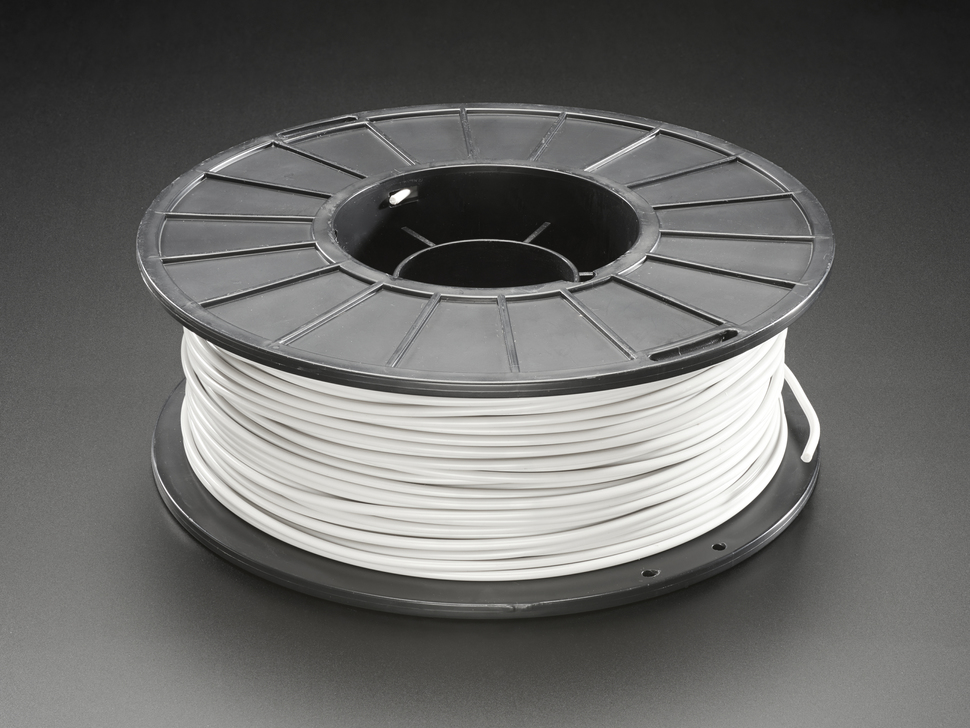 Spool of PLA filament for 3D printers - cool grey color with 2.85mm Diameter.