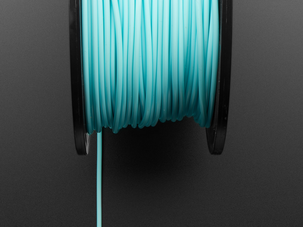 PLA Filament for 3D Printers - 2.85mm Diameter - Aqua - 1.0 Kg - MeltInk