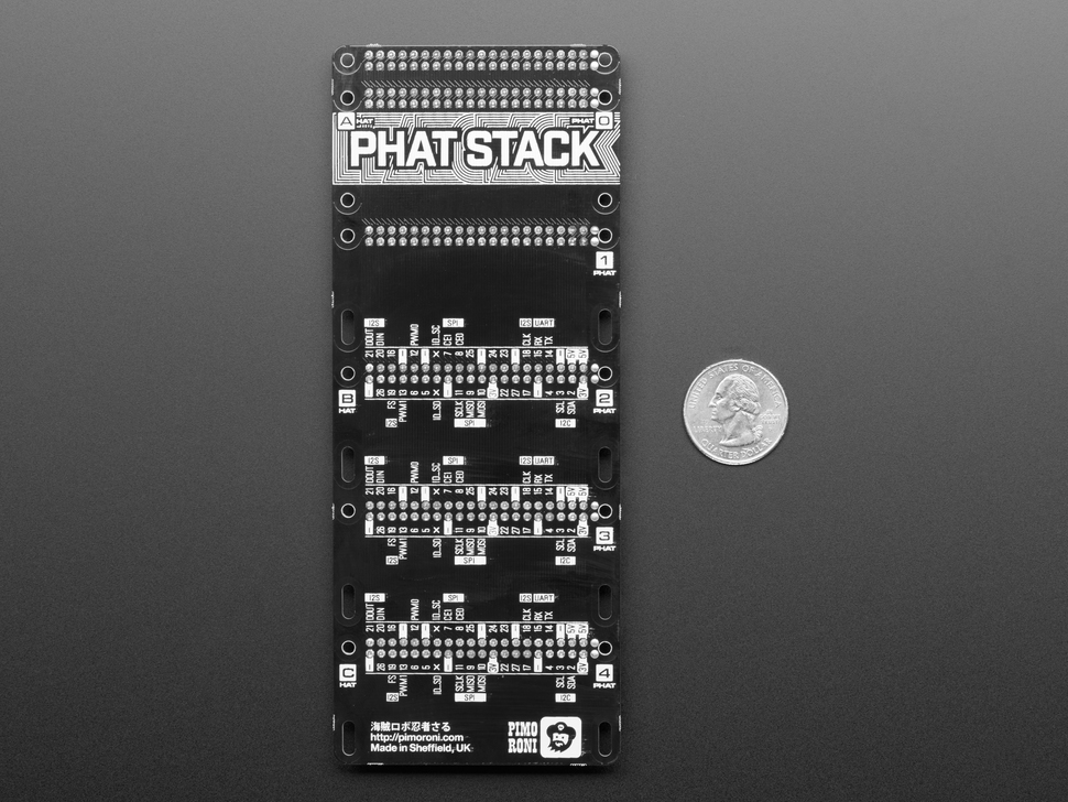 Pimoroni pHAT Stack for Raspberry Pi