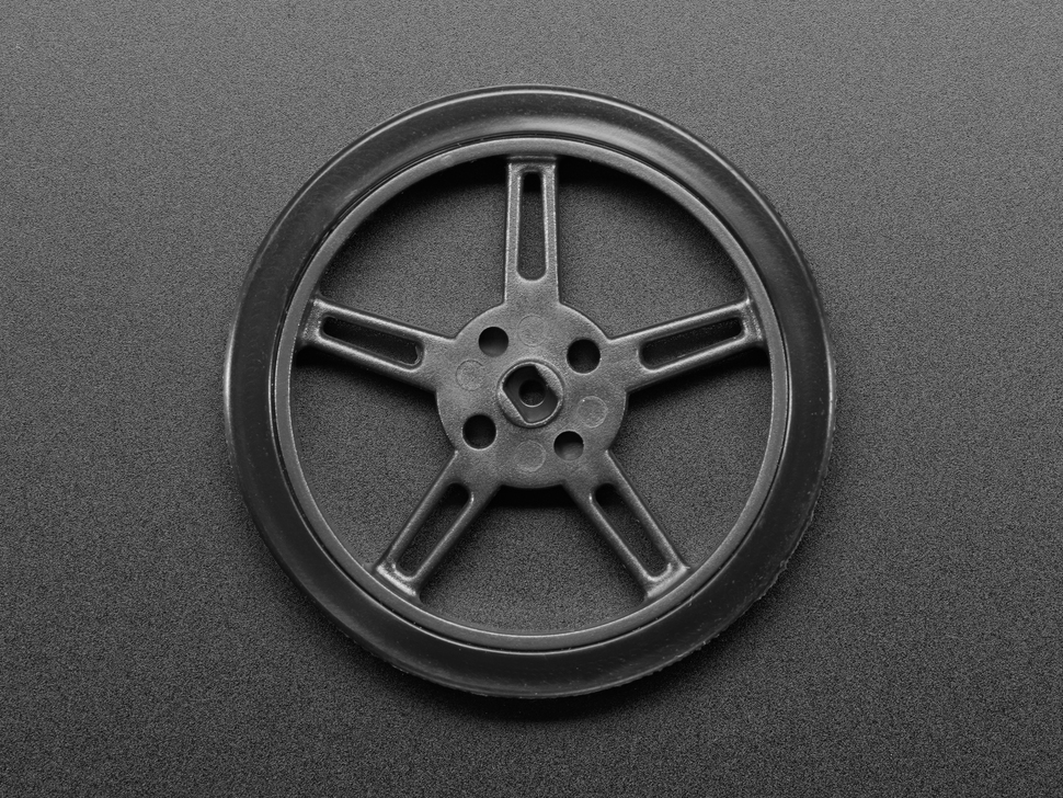 Top down of wheel showing spokes