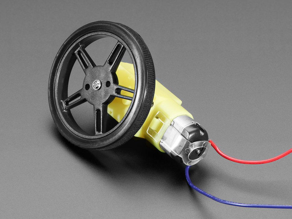 Wheel installed on DC motor