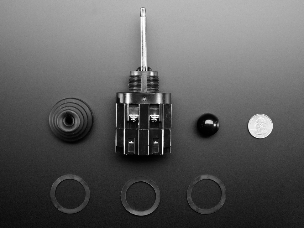 Disassembled components of Joystick