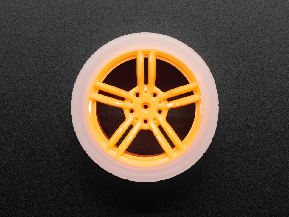 Orange and Clear TT Motor Wheel for TT DC Gearbox Motor