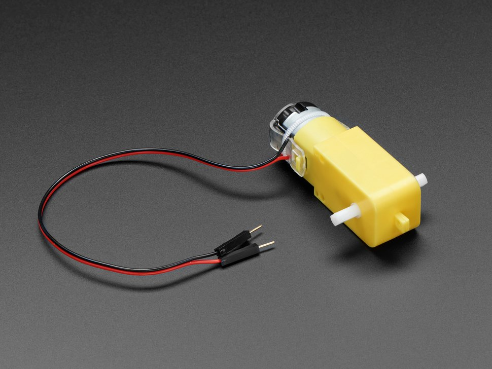 DC Gearbox Motor - TT Motor with two long wires and yellow body