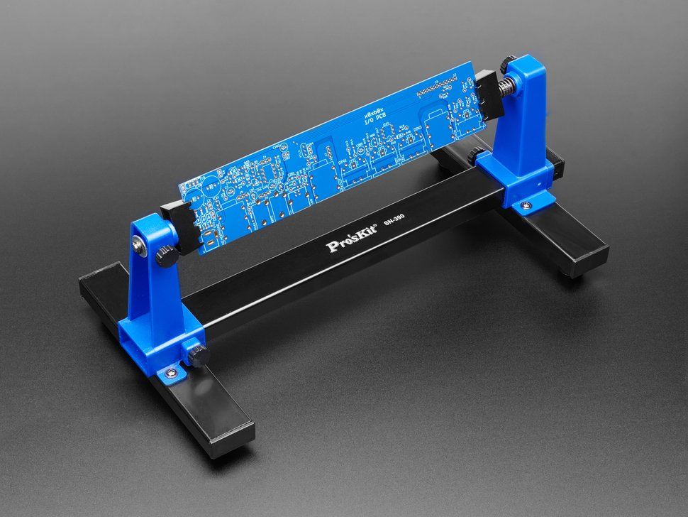 PCB Clamp holder with long thin PCB inserted