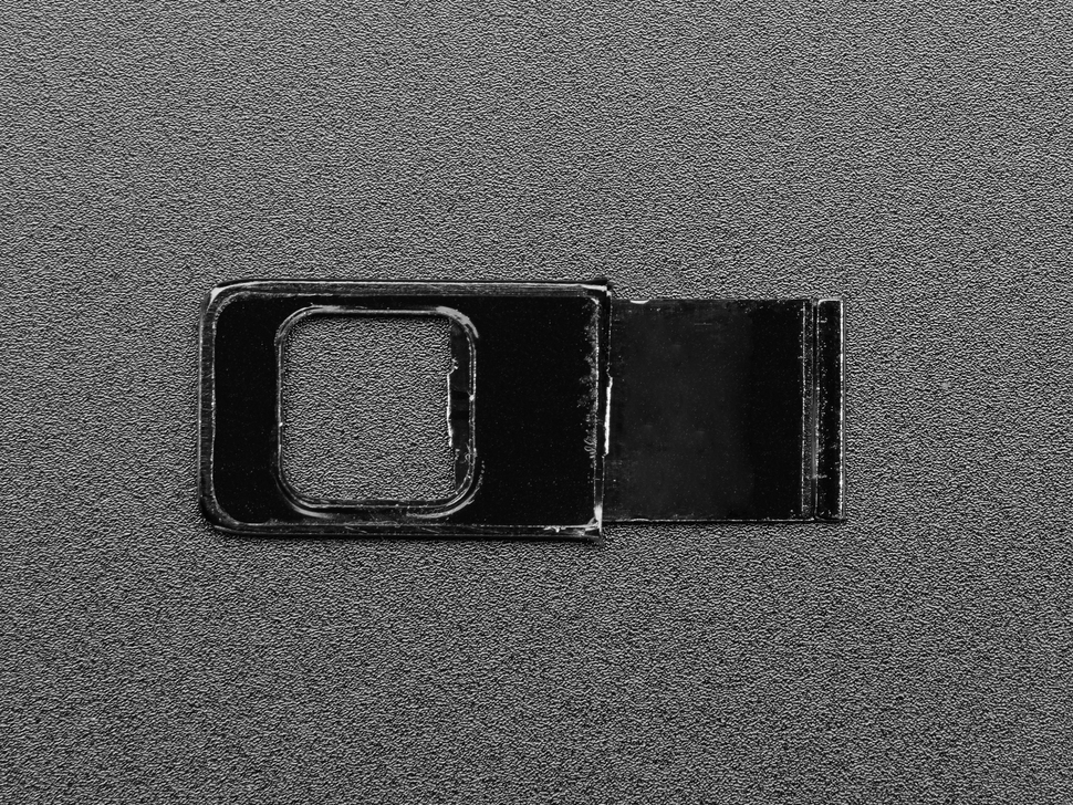 Open image of the black webcam sticker cover.