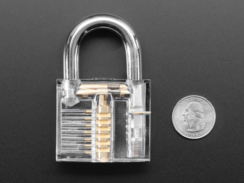 Large Clear Practice Padlock