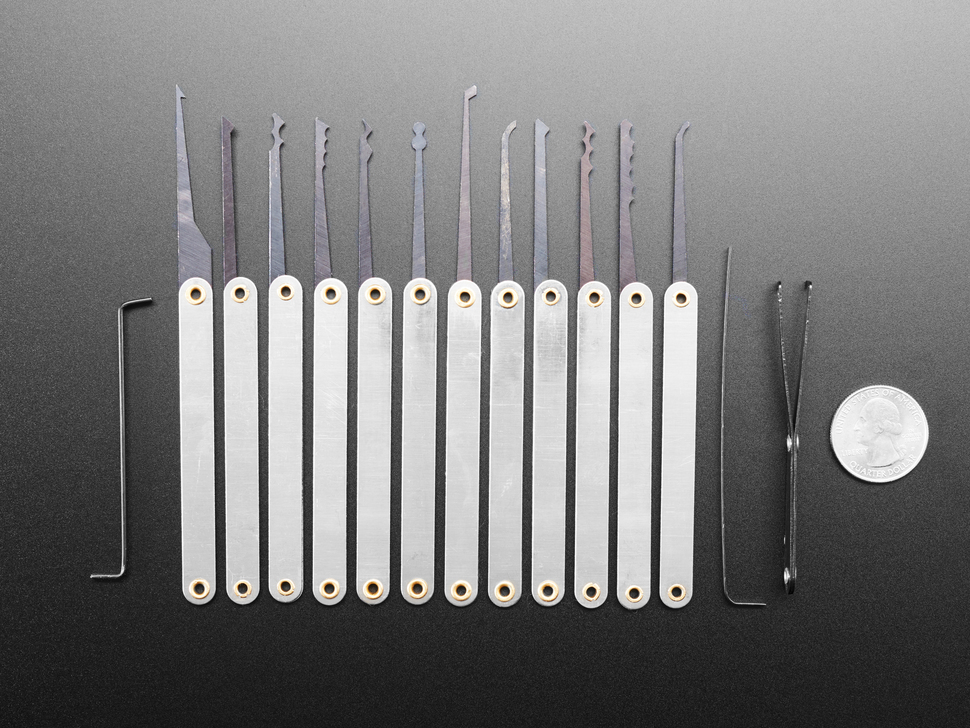 Fancy Lock-sport Pick Set - 12 Picks and 3 Wrenches
