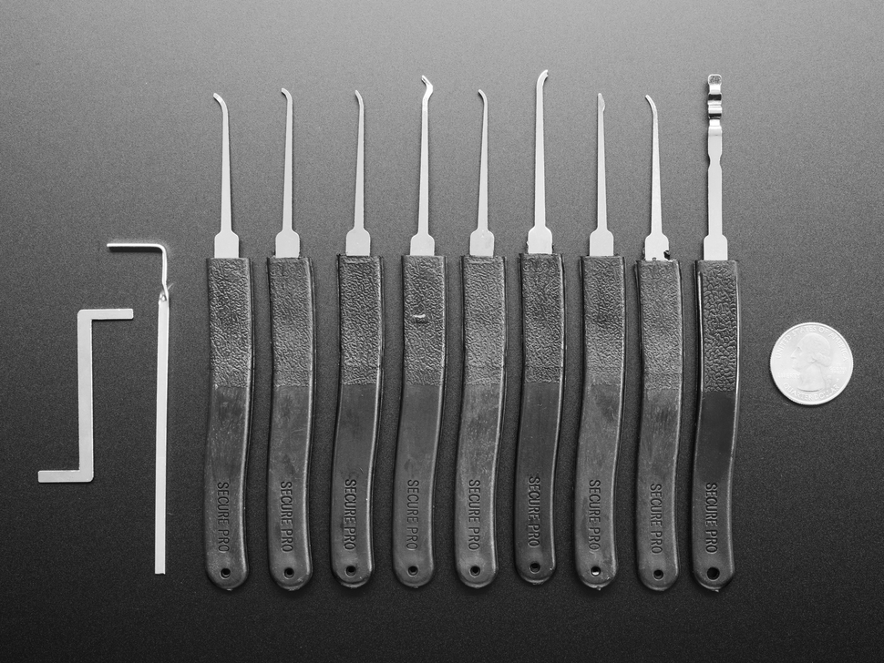 Basic Lock-sport Pick Set - 9 Picks and 2 Wrenches