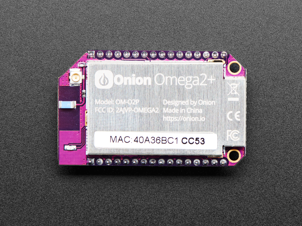 Detail top of Onion Omega board