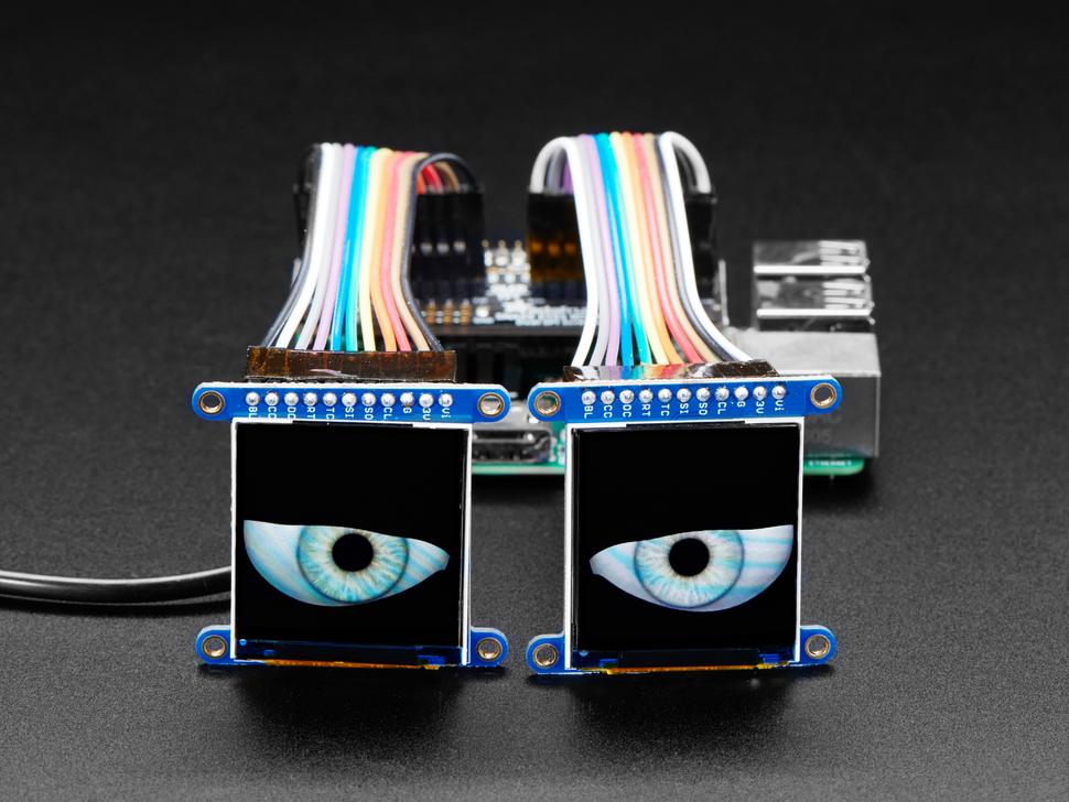 Adafruit Animated Eyes Bonnet for Raspberry Pi Pack - Pi not included