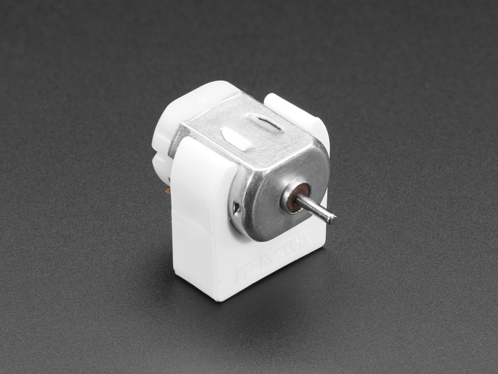 DC motor with plastic motor mount
