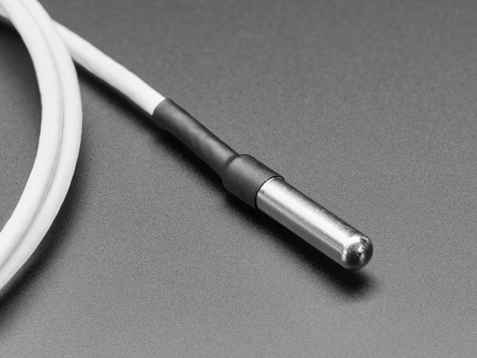 High Temp Waterproof DS18B20 Digital Temperature Sensor - 3m long