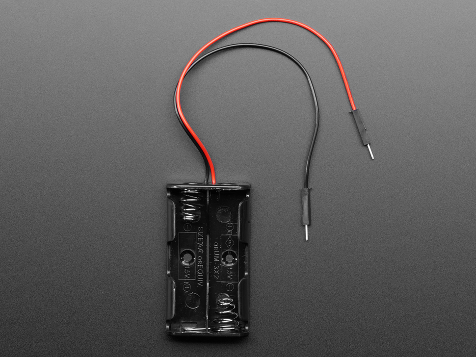 2 x AA Battery Holder with Premium Jumper Header Wires ID: 3858 ...