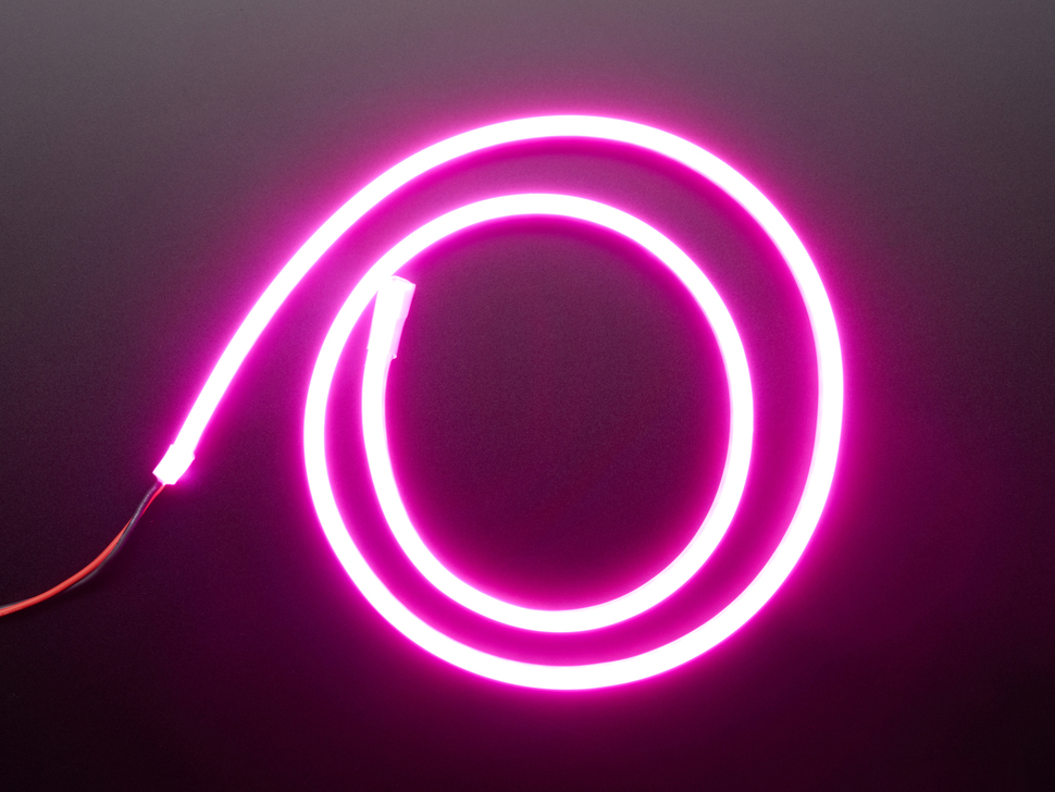 Coil of neon-looking pink light