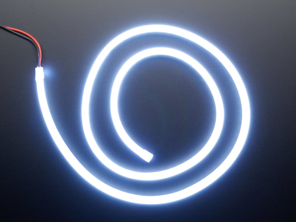 Coil of neon-looking white light