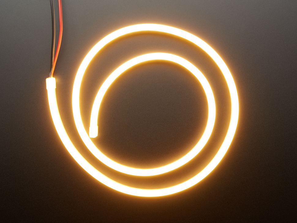 Flexible Silicone Neon-Like LED Strip - 1 Meter - Warm White
