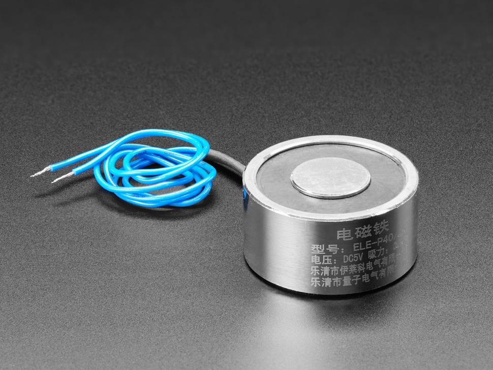 5V Electromagnet - 25 Kg Holding Force - P40/20