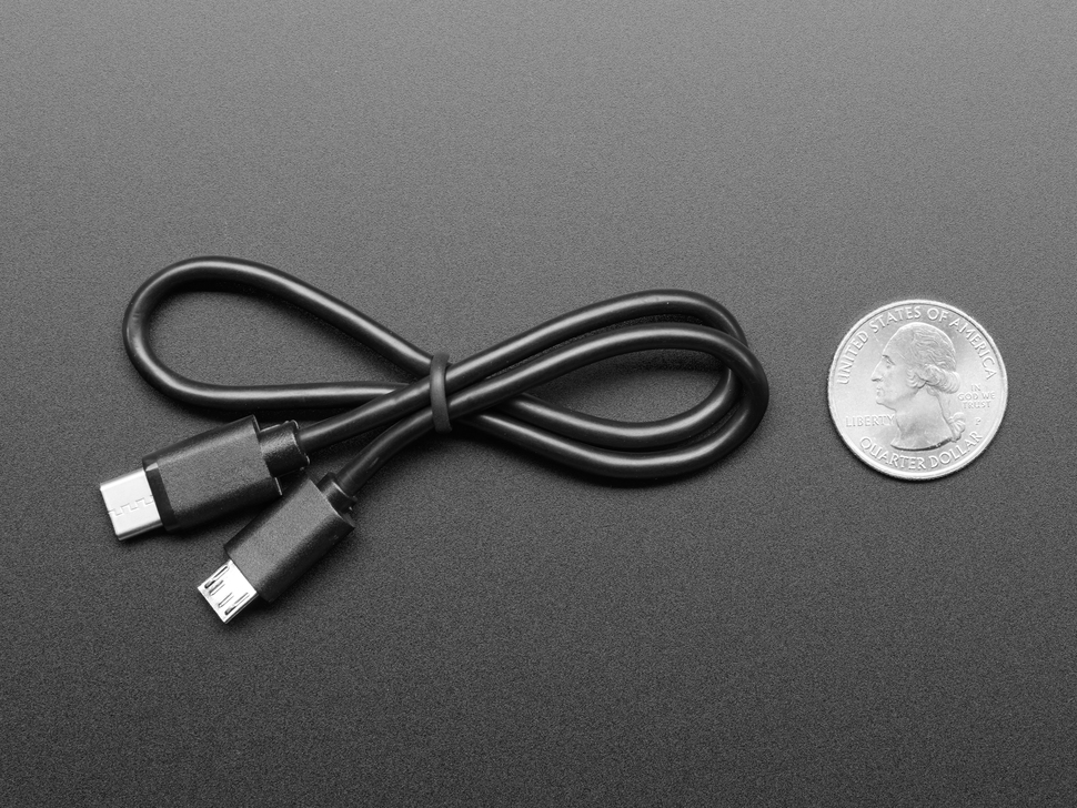 USB C to Micro B Cable - 1 ft 0.3 meter