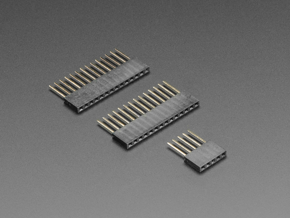Three piece Stacking Header Kit for ItsyBitsy or Teensy