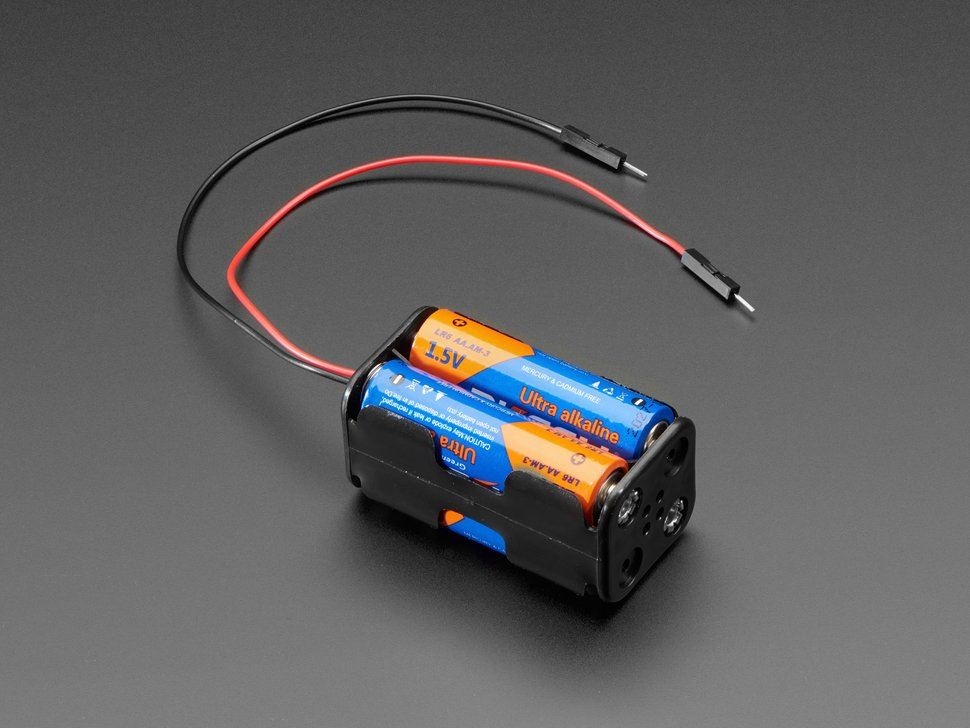 2x2 AA Battery Holder with Premium Jumper Header Wires
