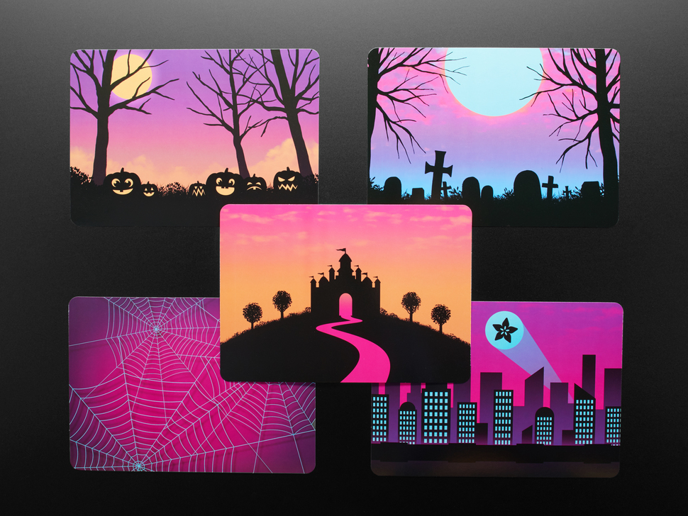 Adafruit #ElectronicHalloween Halloween Cards (set of 5)