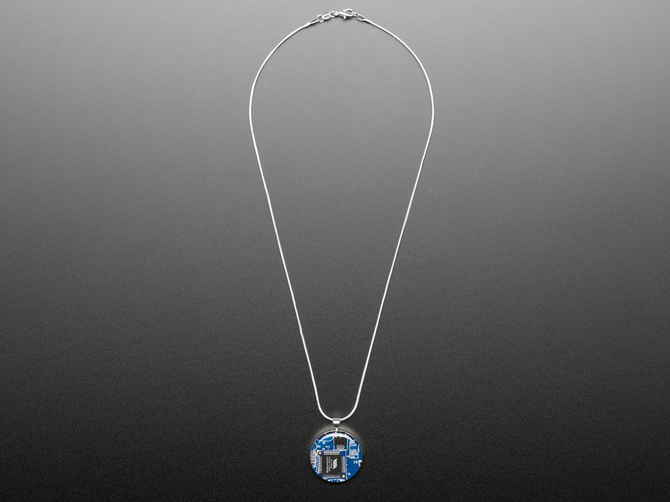 Pendant shown with the silver plate chain