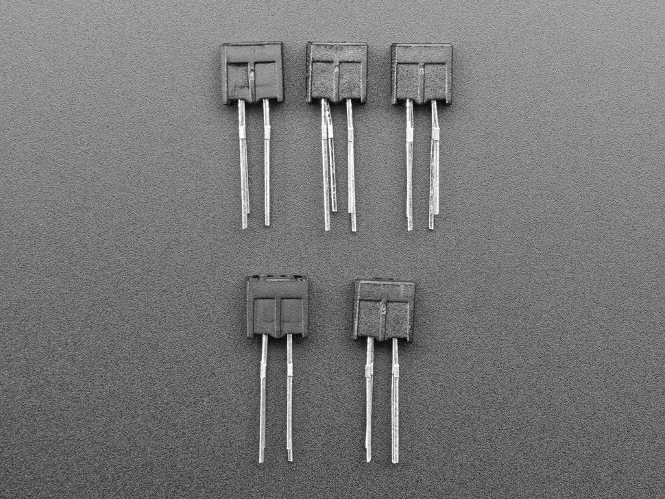 Miniature Reflective Infrared Optical Sensors - 5 Pack - ITR20001/T