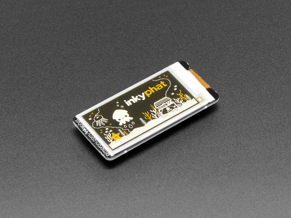 Pimoroni Inky pHAT - 3 Color eInk Display - Yellow/Black/White