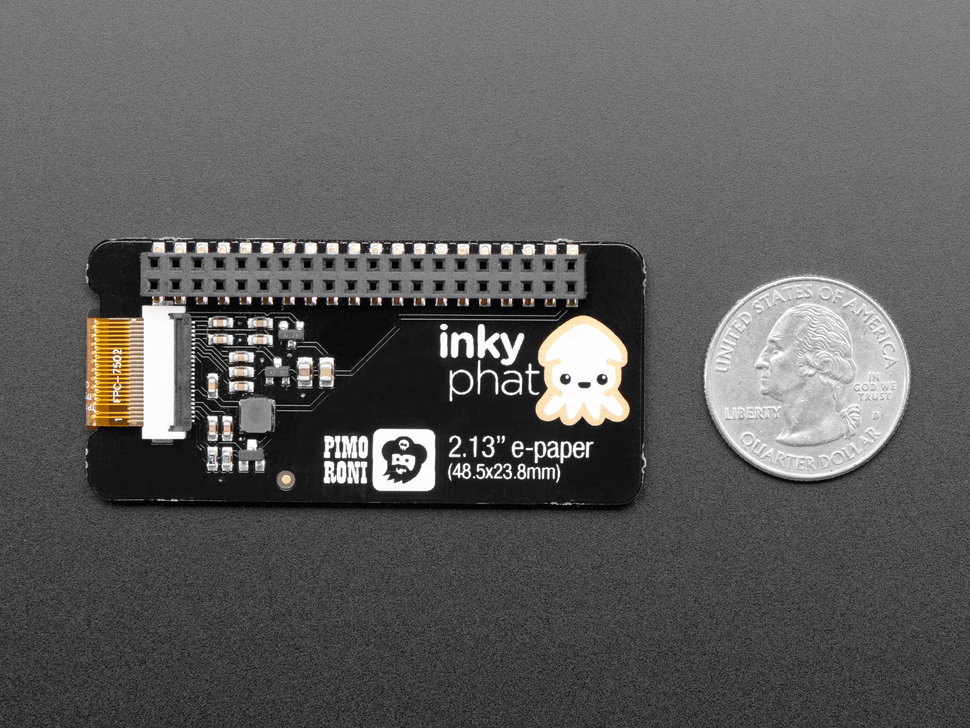 Pimoroni Inky pHAT - eInk Display - Black/White