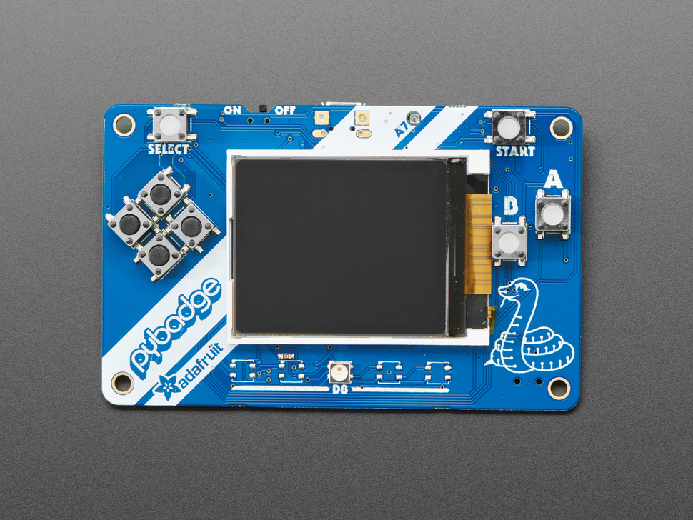 Adafruit PyBadge LC - MakeCode Arcade, CircuitPython or Arduino - Low Cost Version