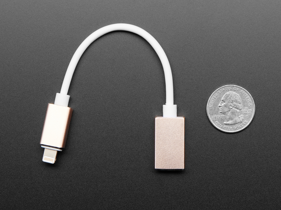 iOS Lightning to USB OTG Cable