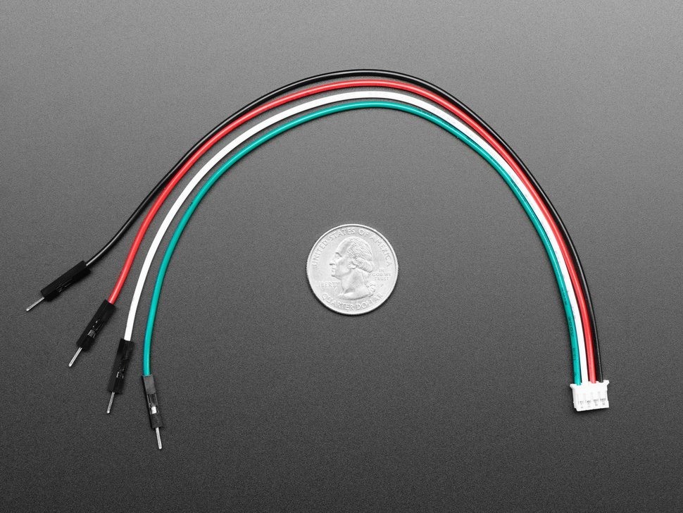 JST PH 4-Pin to Male Header Cable - I2C STEMMA Cable - 200mm